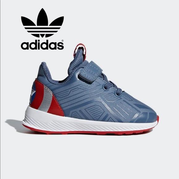 dueña Caña Ligero  adidas Shoes | Adidas Captain America Baby Sneakers | Poshmark
